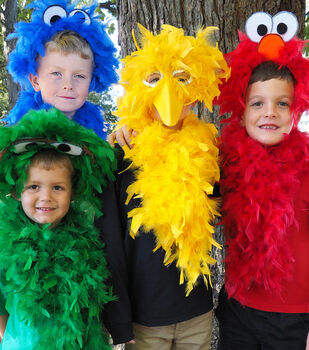 How To Make A Sesame Street Inspired Costumes