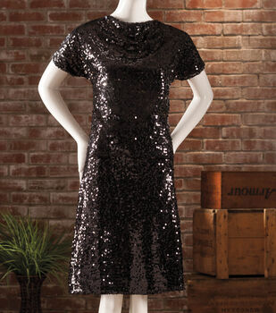 Black Sequin Top and Skirt