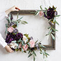 How To Make a Wall Art Fall Floral Frame