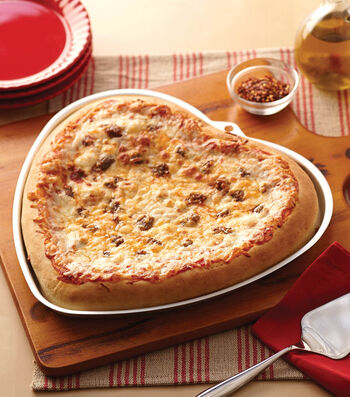 Heart Pizza For Valentine's Day