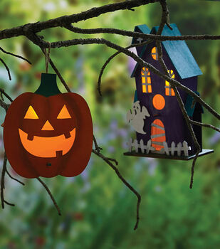 How To Make Painted Halloween Birdhouses