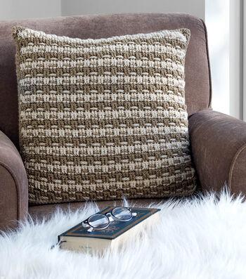 How To Crochet A Woven Look Crochet Pillow
