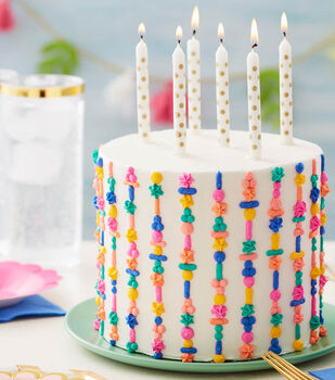 How To Make A Totally Textured Stripe Birthday Cake