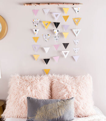 How To Make A Geometric Wall Hanging
