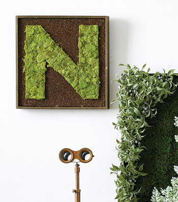 How To Make A Moss Letter Wall Art