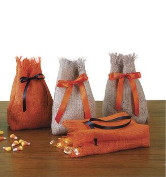Halloween Burlap Snack Sacks