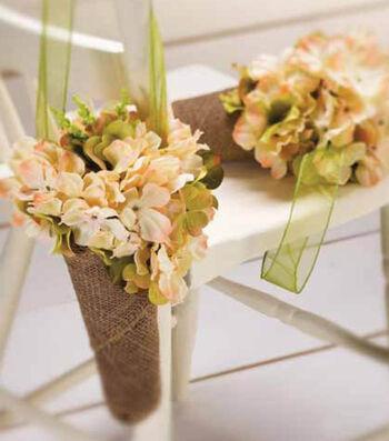 Idea Market Burlap Cone Floral Hanger