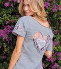 Lace Cut-Out T-Shirt