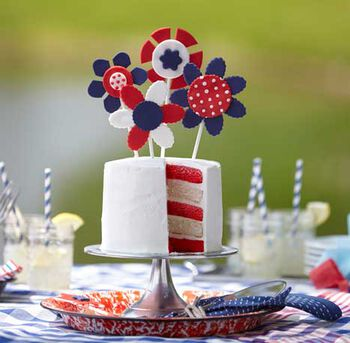 U.S.A. Bouquet Cake