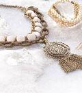 Tori- Bronze & Ivory Tassel Pendant Necklace