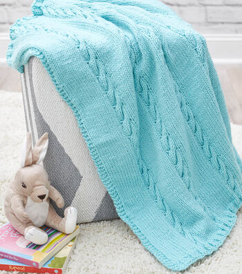 How To Make A Classic Cable Baby Blanket