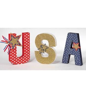 USA Paper Mache Letters