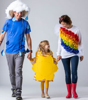 How To Make Last Minute Family Sun, Rain and Rainbow Costumes