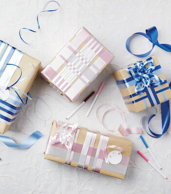 How To Make a Woven Ribbon Gift Wrap
