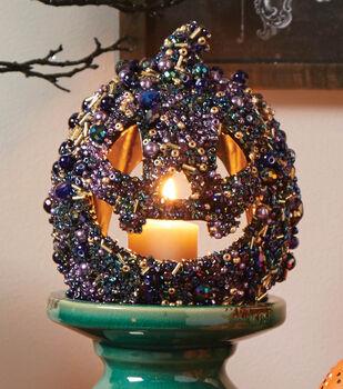 Make A Beaded Pumpkin