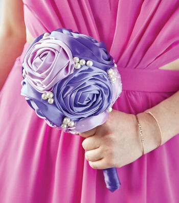 How To Make A Ribbon Rose Bouquet