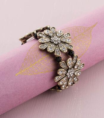 Make A Brass Flower Stretch Bracelet