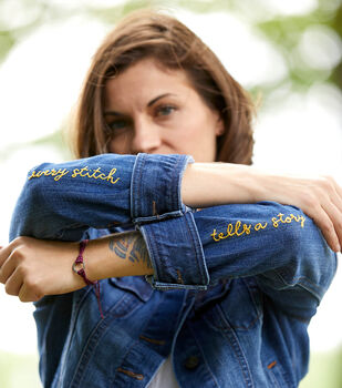 How To Make A Denim Jacket Embroidery