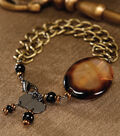Chain and Agate Bracelet
