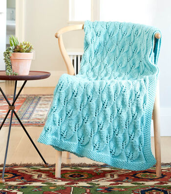 How To Make A Caron Leafy Green Knit Afghan