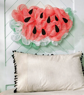 How To Make a Décor Mesh Watermelon