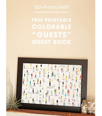 """How To Make A Free Printable Colorable """"Guests"""" Guest Book"""