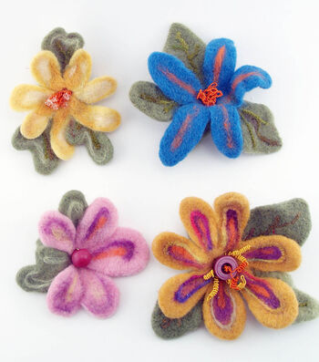 Make Whimsical Felted Flowers