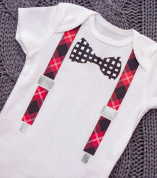 How To Make A Baby Bow & Suspenders Outfit