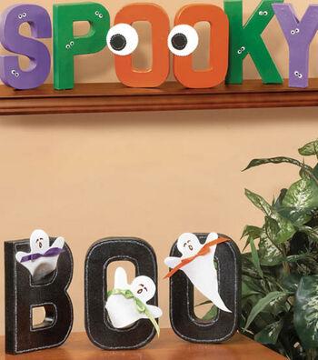 Halloween Paper Mache Letters