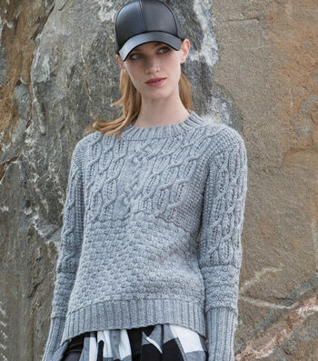How To Make A Boxy Cabled Crew Knit Pullover