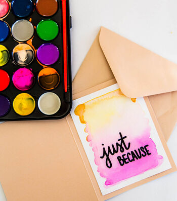 How To Make Watercolor Note Cards