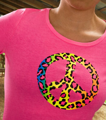 How To Make a Neon Peace Sign Shirt