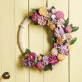 How To Make a Painted Flower Pinecone Wreath