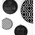 Idea Market Chalkboard Embroidery Hoop