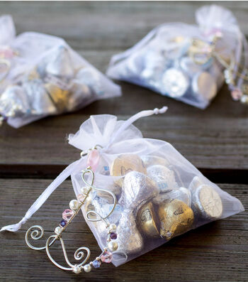 Make Beaded Monogram Wedding Favors