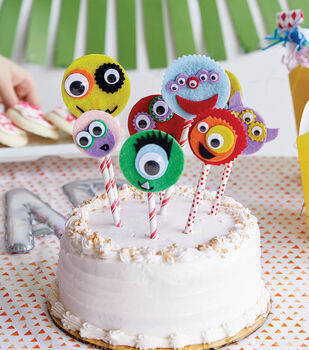 How To Make Google Eye Cake Toppers