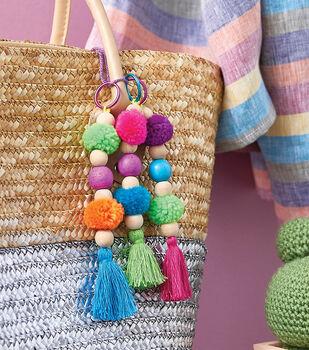 How To Make Pom Pom and Tassel Keychains