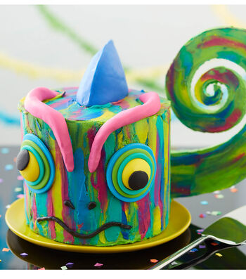 How To Make a Colorful Chameleon Cake