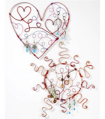 Heart Shaped Wire Jewelry Holder