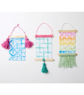 How To Make a Watercolor Shibori Wall Hanging