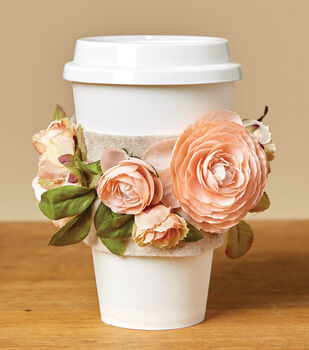 How To Make a Floral Coffee Sleeve