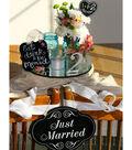 \u0022Just Married\u0022 Table Decorations