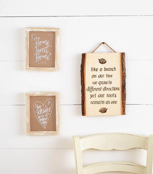 Natural Distressed Floating Frame Wall Decor