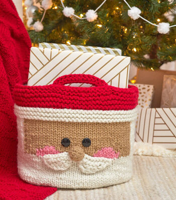How To Make a Jolly Santa Knit Basket with Love