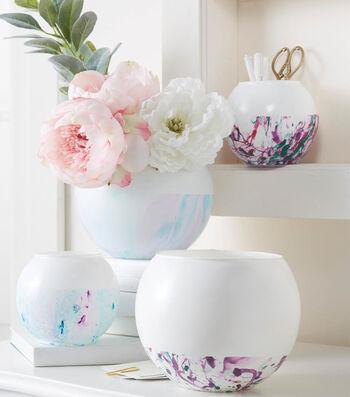 Marble Bottom Vase