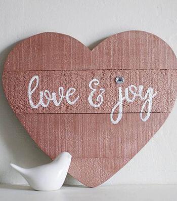How To Make A Love And Joy Metallic Heart