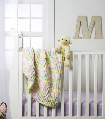 How To Make A Big Twist Loopity Loops Twisted Stitch Nursery Blanket