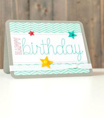 Happy Birthday Zig Zag Card