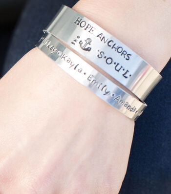 How To Make Stamped Silver Bracelets