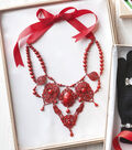 Red Painted Necklace